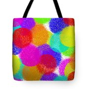 Fuzzy Polka Dots Tote Bag by Andee Design