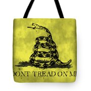 Gadsden Flag - Dont Tread On Me Tote Bag by World Art Prints And Designs