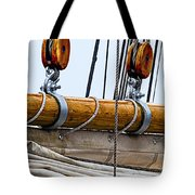 Gaff And Mainsail Tote Bag by Marty Saccone
