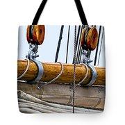 Gaff And Mainsail Tote Bag by Marty Saccone