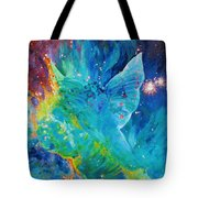 Galactic Angel Tote Bag by Julie Turner