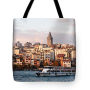 Galata Skyline 03 Tote Bag by Rick Piper Photography
