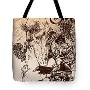 gandalf- Tolkien appreciation Tote Bag by Derrick Higgins