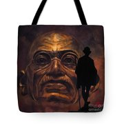 Gandhi - The Walk Tote Bag by Richard Tito