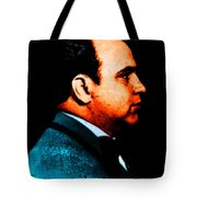 Gangman Style - Al Capone c28169 - Black - Painterly Tote Bag by Wingsdomain Art and Photography