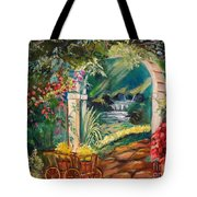 Garden Of Serenity Beyond Tote Bag by Jenny Lee