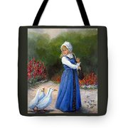 Garden Visitors Tote Bag by Donna Tucker