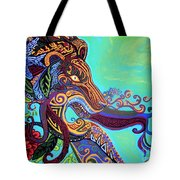 Gargoyle Lion 3 Tote Bag by Genevieve Esson