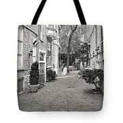 Gaslight Court Chicago Old Town Tote Bag by Christine Till
