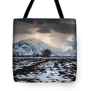 Gathering Winter Storm - Utah Valley Tote Bag by Gary Whitton