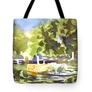 Gazebo With Pond And Fountain II Tote Bag by Kip DeVore