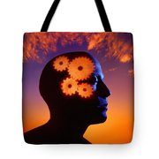 Gears Going In The Mind Tote Bag by Don Hammond