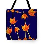 Gemini Constellation Composed By Maple Leaves Tote Bag by Paul Ge