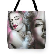 'gentlemen Prefer Blondes' Tote Bag by Christian Chapman Art