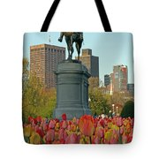 George Washington At The Boston Public Garden Tote Bag by Juergen Roth