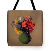 Geraniums And Flowers Of The Field Tote Bag by Odilon Redon
