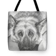 German Shepherd Tote Bag by Heather Gessell