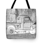 Ghost Of A Truck Tote Bag by Jean Noren
