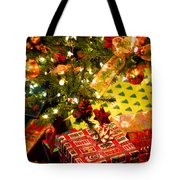 Gifts Under Christmas Tree Tote Bag by Elena Elisseeva