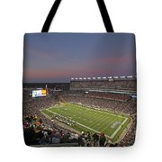 Gillette Stadium In Foxboro Tote Bag by Juergen Roth