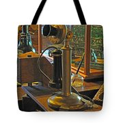 Gillette's Phone and Fan Tote Bag by Barbara McDevitt