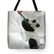 Ginny The Baby Panda In Winter #01 Tote Bag by Ausra Paulauskaite