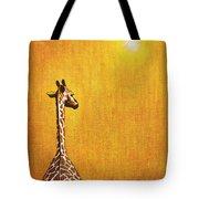 Giraffe Looking Back Tote Bag by Jerome Stumphauzer
