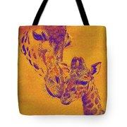 Giraffe Love Tote Bag by Jane Schnetlage
