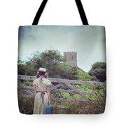 Girl At Gate Tote Bag by Joana Kruse