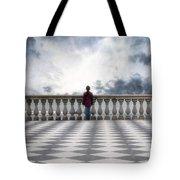 Girl On A Terrace Tote Bag by Joana Kruse