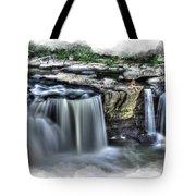 Girl on rock at falls Tote Bag by Dan Friend