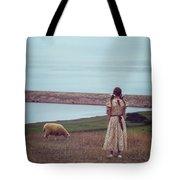 Girl With A Sheep Tote Bag by Joana Kruse