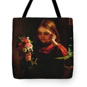 Girl With Flowers Tote Bag by John Davidson
