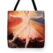 Glad Day Or The Dance Of Albion Tote Bag by William Blake
