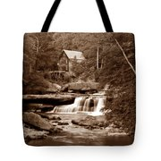 Glade Creek Mill In Sepia Tote Bag by Tom Mc Nemar