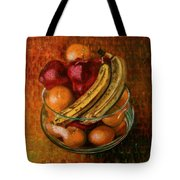Glass Bowl Of Fruit Tote Bag by Sean Connolly