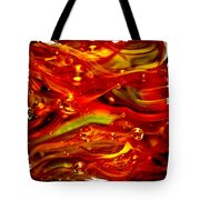 Glass Macro Abstract RF1CE Tote Bag by David Patterson
