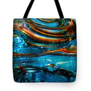 Glass Macro - Blue Swirls Tote Bag by David Patterson