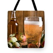 Glass Of Cyder Tote Bag by Amanda And Christopher Elwell