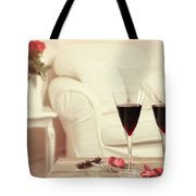 Glasses Of Red Wine Tote Bag by Amanda And Christopher Elwell