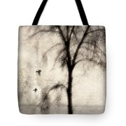 Glimpse Of A Coastal Pine Tote Bag by Carol Leigh