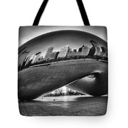 Glowing Bean Tote Bag by Sebastian Musial