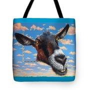 Goat A La Magritte Tote Bag by Jurek Zamoyski