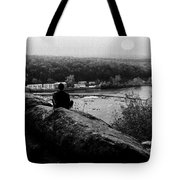 Goat Hill River View Tote Bag by Val Arie