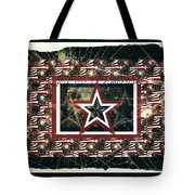 God Bless America Tote Bag by Sherry Flaker