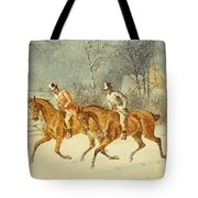 Going Out In A Snowstorm Tote Bag by Henry Thomas Alken