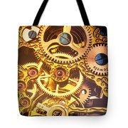 Gold Pocket Watch Gears Tote Bag by Garry Gay