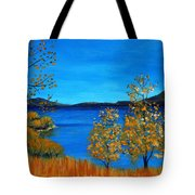 Golden Autumn Tote Bag by Anastasiya Malakhova