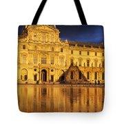 Golden Louvre - Paris Tote Bag by Brian Jannsen