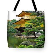 Golden Pavilion - Kyoto Tote Bag by Juergen Weiss